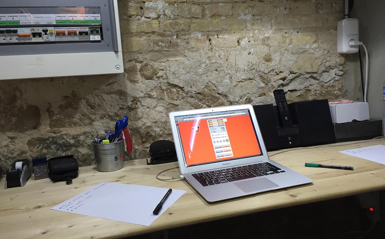 Mi oficina en el almacén de Superdry Valencia