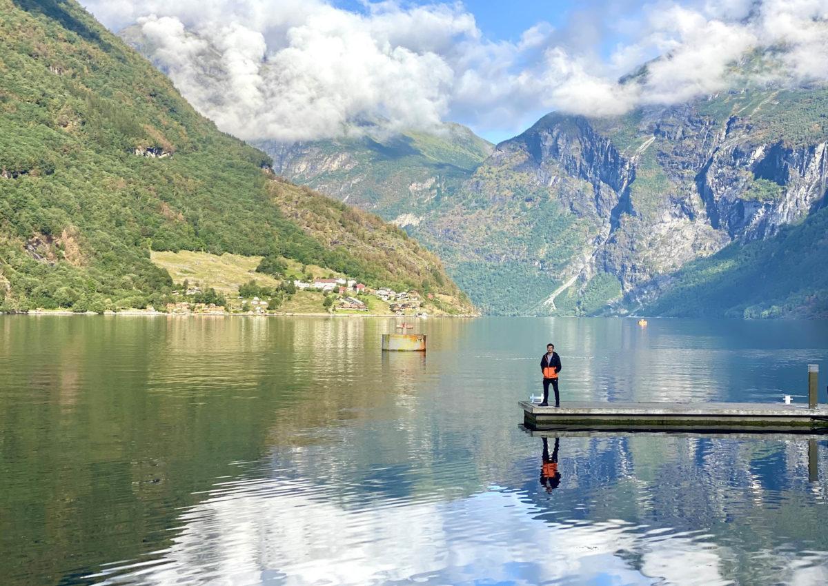 Los fiordos noruegos y pivotar